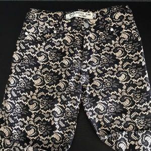 Alexander McQueen pant lace pattern design